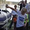 Taufe Schlauchboot