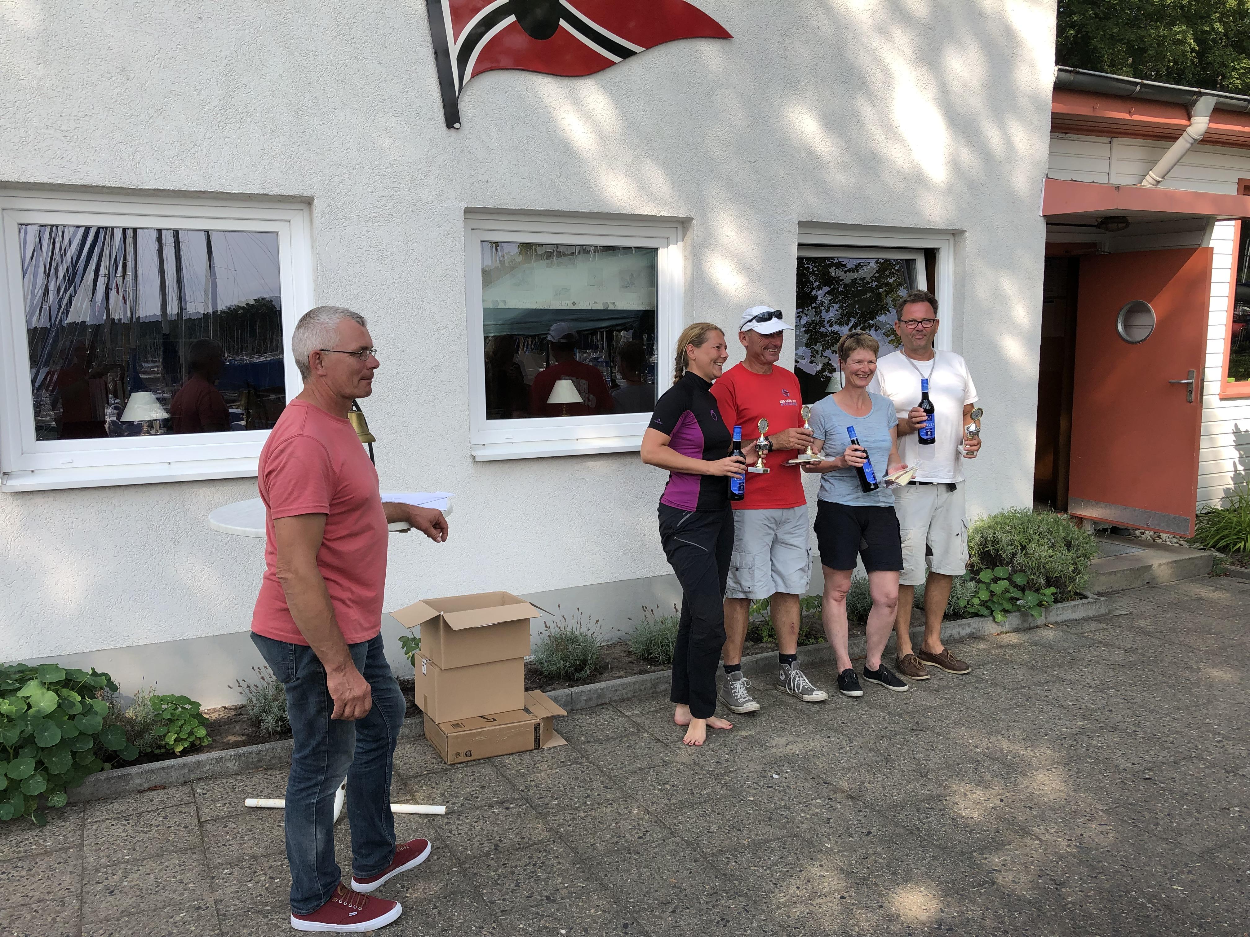 2. Clubwettfahrt Siegerehrung